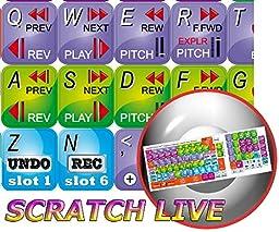 NEW SERATO SCRATCH LIVE KEYBOARD STICKERS