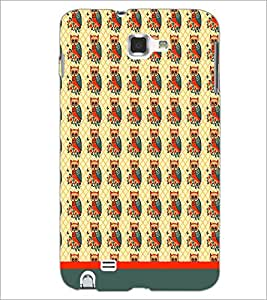PrintDhaba Owl Pattern D-1652 Back Case Cover for SAMSUNG GALAXY NOTE 1 (Multi-Coloured)