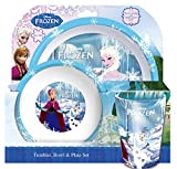 Spearmark 3-Piece Frozen Tumbler/ Bowl and bed-sheet Set, Multi-Colour