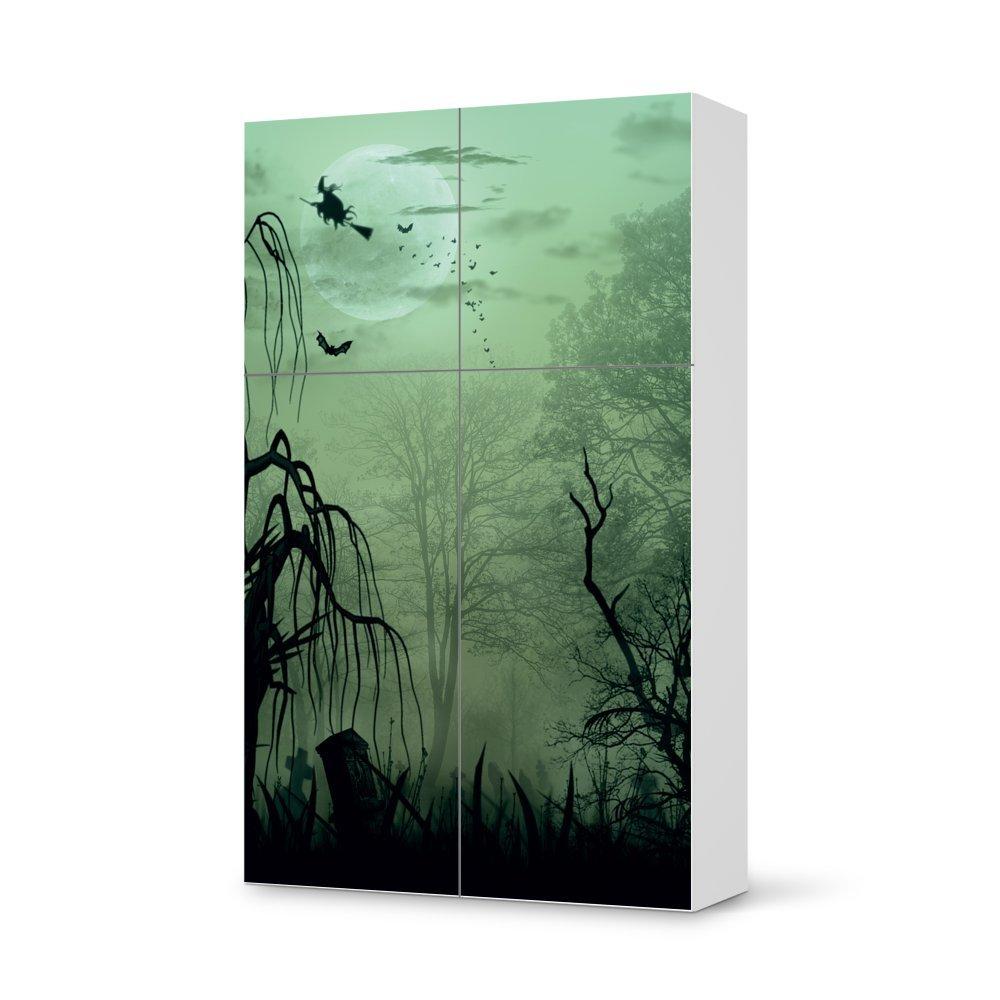 Folie IKEA Besta Schrank Hochkant 4 Türen (2+2) / Design Aufkleber Witchcraft / Dekorationselement günstig bestellen
