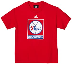 NBA Philadelphia 76ers Youth 8-20 Primary Logo Short Sleeve Tee, Medium, Red