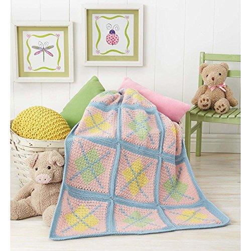 Argyle Crochet Afghan Pattern : Herrschners Argyle Baby Blanket Crochet Afghan Kit ...