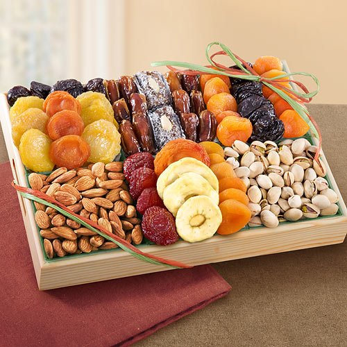 Pacific Coast Deluxe Dried Fruit Tray  Nuts