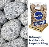 Granit-Gletscherkies Grau 100--300mm 600kg Drahtkorb
