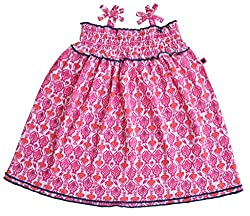 Babeez Baby Girl Singlet All Over Printed Dress with Smocking to fit height 86 - 92cms (100%Cotton)
