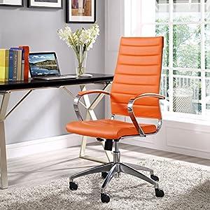 LexMod Jive Highback Office Chair, Orange