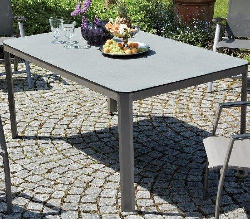 Tisch, 160 x 90 cm, mit Spraystone-Tischplatte, H: 76 cm