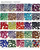 BlingGiftShop® NEW 24 COLOURS Packs of 5000 Flat Back Rhinestone Diamante Gems / Craft Gems tools (Size: 2mm , 3mm , 4mm , 5mm)