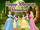 Princess Admiration 1/4 Sheet Edible Photo Birthday Cake Topper. ~ Personalized!