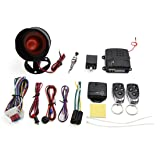 uxcell 1-Way Car Vehicle Burglar Alarm System Keyless Entry Security System w/ 2 Remote Control