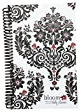 2013-2014 bloom Academic Year Daily Day Planner Fashion Organizer Agenda August 2013 Through July 2014 Black White Damask