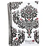 2013-2014 bloom Academic Year Daily Day Planner Fashion Organizer Agenda August 2013 Through July 2014 Black White Damask ~ bloom daily planners