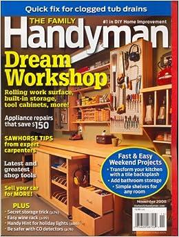 family handyman november 2008 issue editors of family handyman magazine books. Black Bedroom Furniture Sets. Home Design Ideas