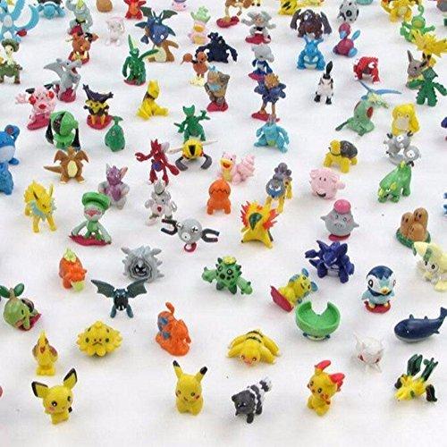 Ducomi® Pokemon Colección de figuras de juguete de los personajes del cartón animado como Pikachu, Charmander, Jigglypuff y muchos otros