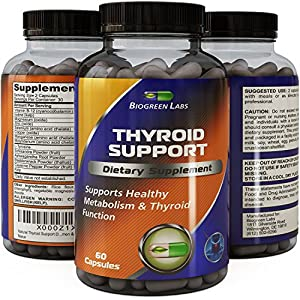 Natural Thyroid Support Dietary Supplement Improve Thyroid Function Powerful Antioxidant Increase Energy Reduce Fatigue Support Immune System Boost Metabolism for Women & Men by Biogreen Labs