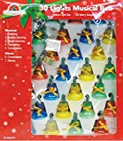 Holiday Essence Indoor Synchronized Musical Christmas Bells Light Set - 30 Multi Color Bell Lights - Plays 25 Merry Songs, with multiple Chasing Functions