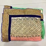 Shree Mira Impex New Designer Fancy Green Lycra Partywear Wedding Saree Sari