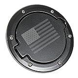 Fuel Filler Door Cover Gas Tank Cap 2/4 Door For Jeep Wrangler JK-Black (USA Flag)