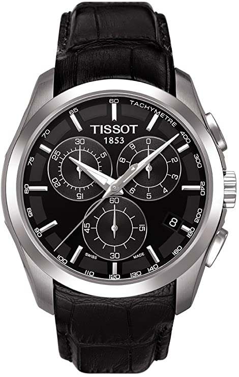 Best watch brands Tissot Men's T063.637.16.057.00 Black Dial Watch