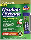 Good Sense Nicotine Polacrilex Lozenge, Mint Mini Lozenge, 4 mg, 81 Count