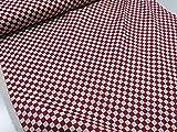 市松模様 レッド赤 ドビー生地      |生地|布地|和柄|和風|日本|