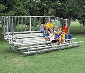 Ultra Play Aluminum Bleacher With 5 Rows 21 Long from Ultra Play