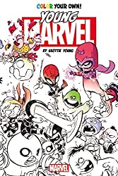 Color Your Own Young Marvel by Skottie Young