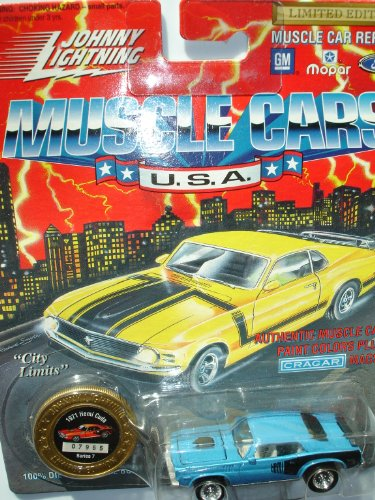Johnny Lightning 1994 Muscle Cars USA Blue 1971 Hemi Cuda Series 7