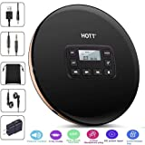 HONGYU Portable CD Player with LCD Display, Personal Compact Disc CD Players Electronic Skip Protection Shockproof Anti Scratch Function with Stereo Headphones Walkman (Black) (Color: CD Player-cd611-Black)