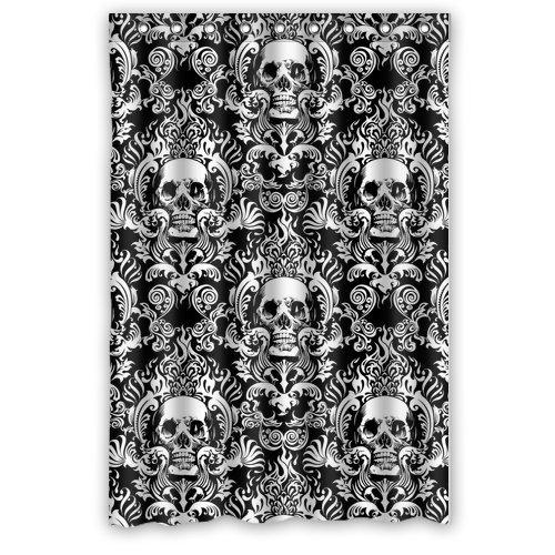 "Atnee Creative Skull Damasks Design Shower Curtain Standard Inch Size 48""(W) X 72""(H)"