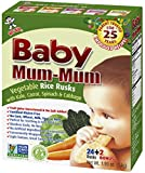 Baby Mum-Mum Rice Rusks, 24 + 2 Pieces, Vegetable (Pack of 6)