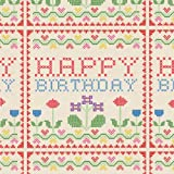 5 Sheets Of Cross Stitch Wrapping Paper