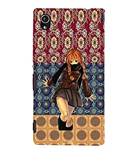 ifasho Designer Phone Back Case Cover Sony Xperia M4 Aqua :: Sony Xperia M4 Aqua Dual ( Grey White Antic BiCycle with Flower Colorful Pattern Design )