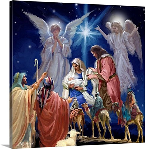 The Macneil Studio Premium Thick-Wrap Canvas Wall Art Print entitled Nativity Collage
