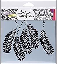 Crafters Workshop Template 6 by 6-Inch Peacock Feathers