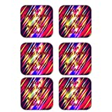 MeSleep Abstract Rakhi Wooden Coaster-Set Of 6 - B013LEN7S8