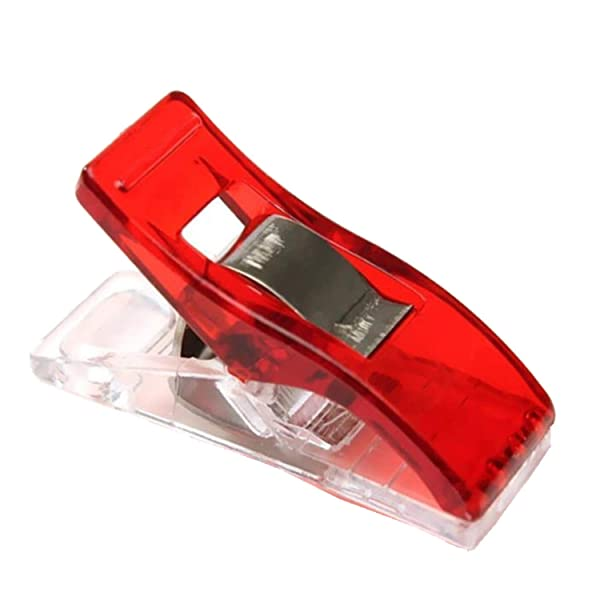 Plastic Clips Multicolor for Sewing Clips,Crafting,Crochet and Knitting (Color: Red, Tamaño: 50 PC)