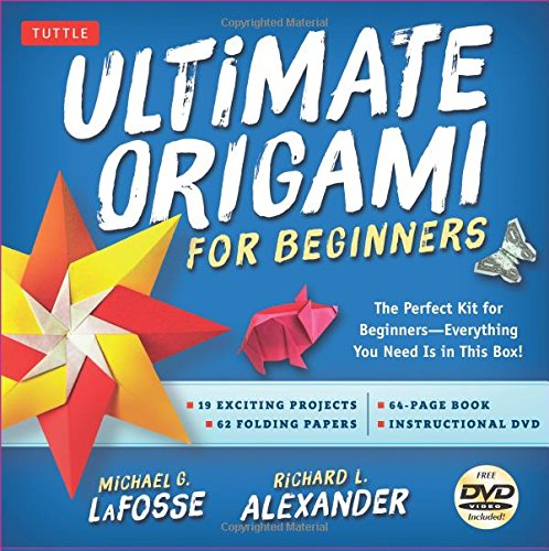 Ultimate Origami for Beginners Kit: The Perfect Kit for Beginners-Everything you Need is in This Box! [Origami Book, DVD, 62 Papers, 19 Projects] (Ultimate Book Of Card Games compare prices)
