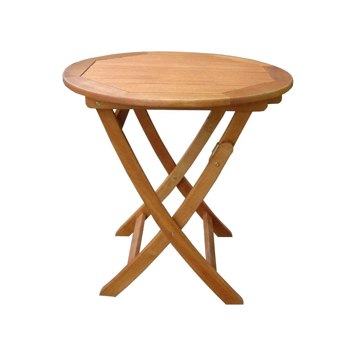 Klapptisch Balkontisch Balkon-Möbel Gartenmöbel Hartholz Tisch Rund 80er Garte günstig bestellen