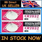 2 x MAXELL High Quality CR2032 Batteries 3V Lithium Battery cr 2032 Key Remote
