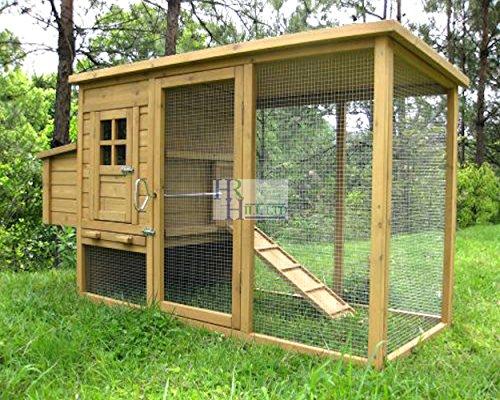 Imperial Wentworth Pollaio Gabbia per Pollo Grande Conigliere – Può Contenere Fino a 4 Uccelli a Seconda dei suoi Dimensioni – con Recinto, Vassoio e una Sistema Innovativa di Bloccaggio