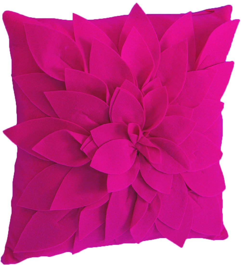 Sara's Garden Petal Decorative Throw Pillow, 17 Inch Square, Filler Included