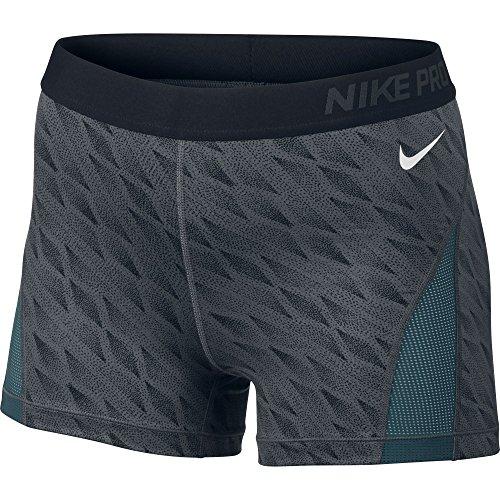 Women's Nike Pro Hypercool Short Dark Grey/Black/White Size Large