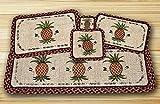 Earth Rugs WW-375 Pineapple Design Rectangle Wicker Weave Table Runner, 13 x 36