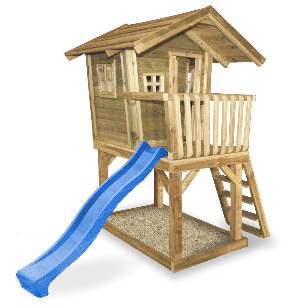 Wickey Spielturm Fun House Spielhaus Auf Stelzen Blaue Rutsche