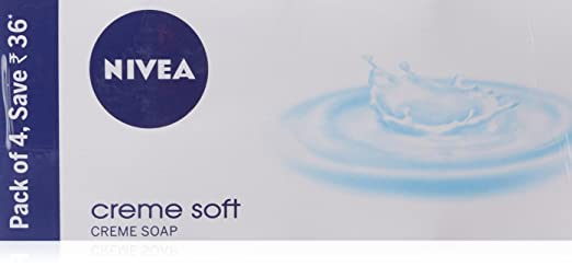Nivea Creme Soft creme Soap ,125gm (Pack of 4)