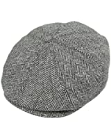Jaxon & James Herringbone Newsboy Cap - Grey