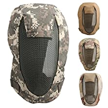 buy Oenbopo New Outdoor Tactical Safety Airsoft Paintball Game Full Face Protection Cs Mesh Mask (Acu)