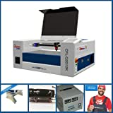 CAMFive Laser CO2 Cutter & Engraver Model Q2012K Working Area 20x12 Cutting and Engraving Machine for Hobby and Home Use, Wood and More. Advance Package (Tamaño: Advance Package)