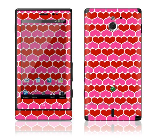 Review:  Sony Xperia Sola MT27i Decal Phone Skin Decorative Sticker w/ Free Matching Wallpaper - Hot Hearts